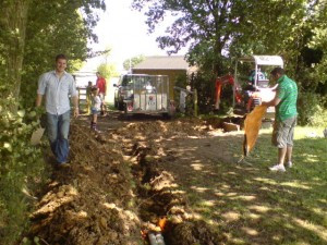 Drainage ditch work