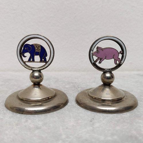 Pig & Elephant Menu Holders