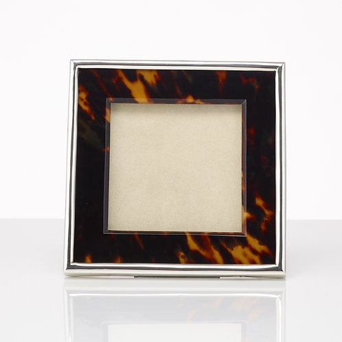 A Tortoiseshell & Silver Photo Frame by Arthur William Clare of London, 1904