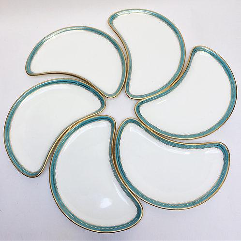 Set Of Six Mintons Plates For John Mortlock London