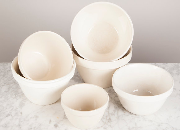 Collection of 6 Pudding Basins