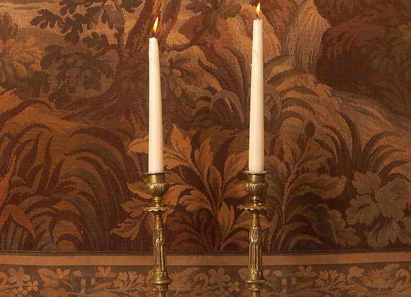 A Pair of 19th Century French Bronze Candlesticks