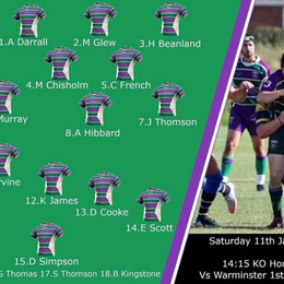 Team for Warminster match today