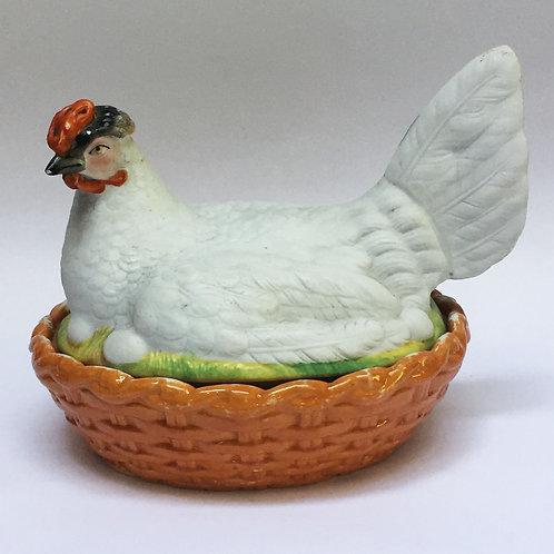 Hen On A Basket