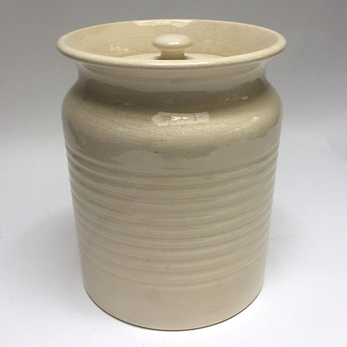 Cream Banded Jar By T G Green