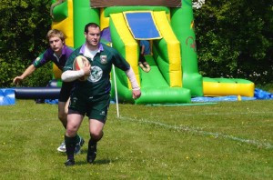 Action from last year's Minety Sevens