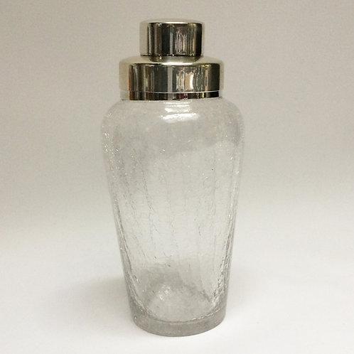 Crackle Glass Cocktail Shaker