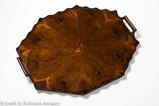 Beautiful Figured Walnut Veneered Tray Dutch, circa 1840-1850