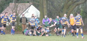 Minety 2nd XV in action against Warminster seconds