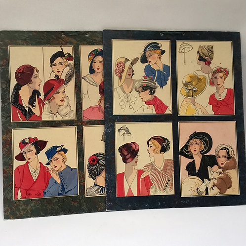 Pair Of Large '1930's' Millinery Charts