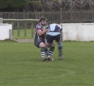 Robin Greenway's tackle for try No. 2
