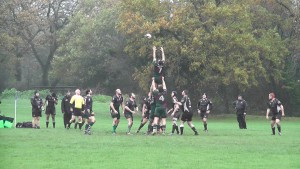 Man of the match, Steve Brown, at the lineout