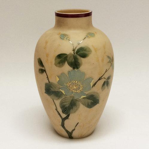 'Japonaiserie' Hand Painted Glass Vase