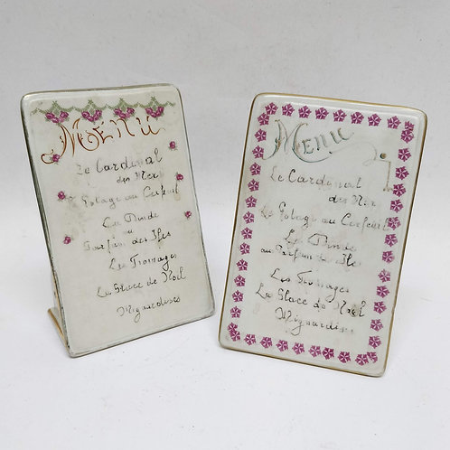 A Pair Of French Menu Tablets