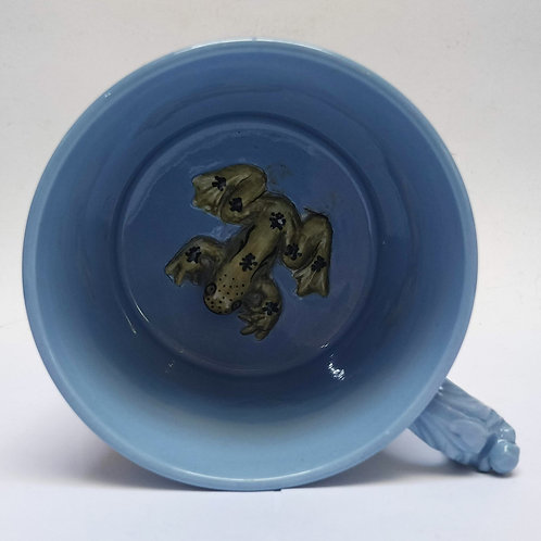 Staffordshire Relief Moulded Frog Mug/Tankard