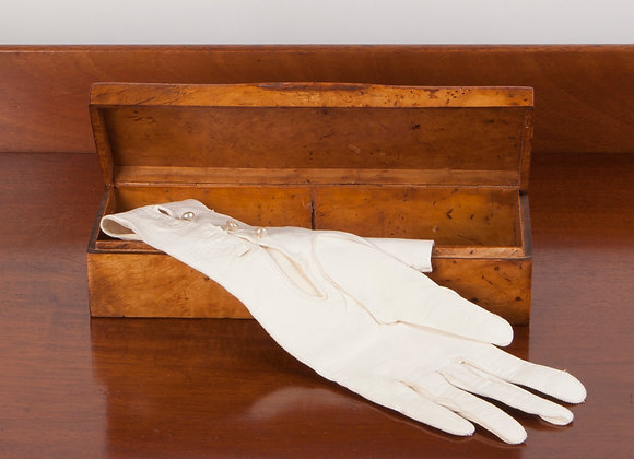 An Early 20th Century Birdseye Maple Glove Box