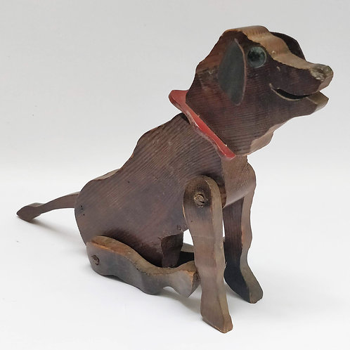 Naive Wooden Toy Dog