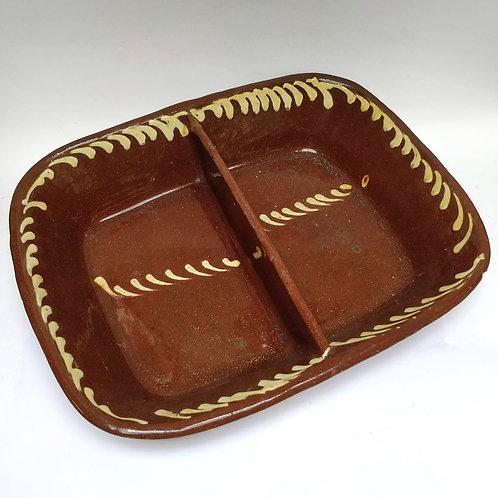 19th Century Slipware Divided Dish