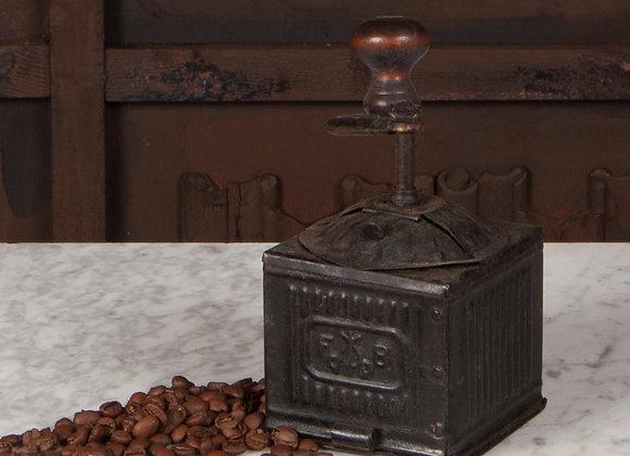 A Victorian Black Metal Coffee Grinder