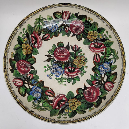 Large Statement Staffordshire Floral Bowl