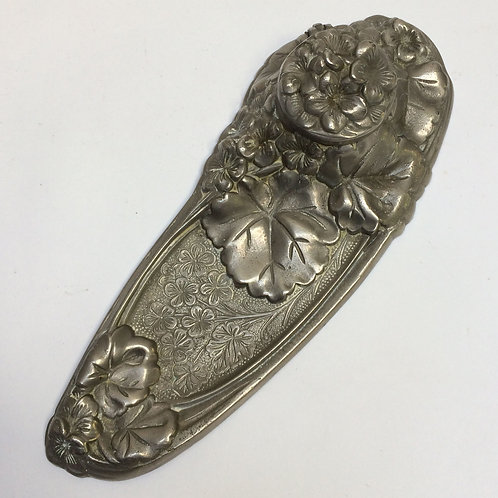 French Art Nouveau Spelter Ink Well