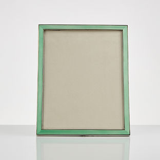 Large 20th century Art Deco Silver & Enamel Photograph Frame, circa 1920-25