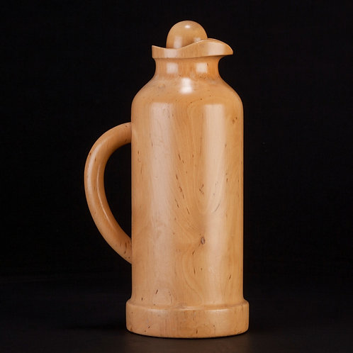 SOLID CARVED WOOD FLASK BY PIETRO MANZONI