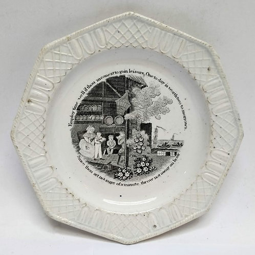 C19th Octagonal Nursery Plate