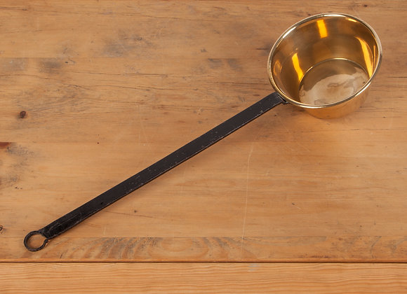 Brass Long Handled Pan (Ladle) with Iron Handle