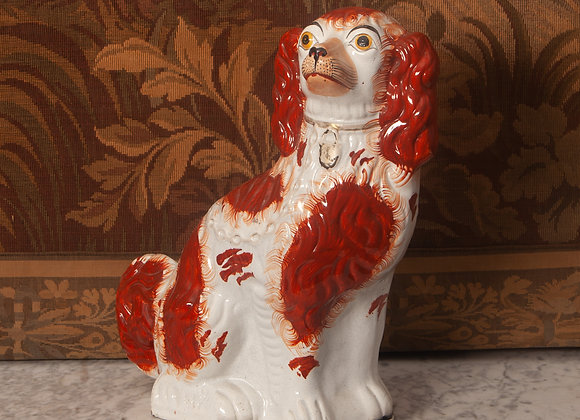 Large Victorian Staffordshire Figure of a Dog