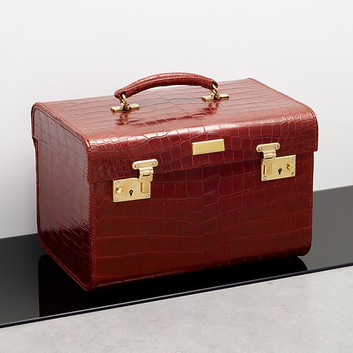 A Mid 20th Travelling Crocodile Vanity Case, 1960-70