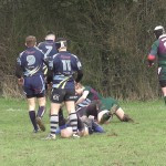 Melksham's first try in 5th minute. 0-5