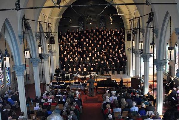 Symphonic chorus performance