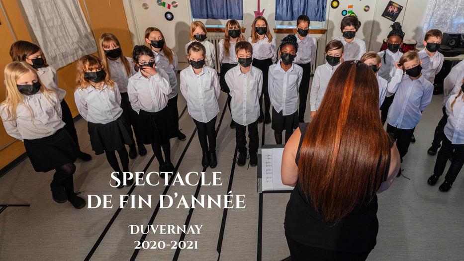 Spectacle de musique de fin d'année 20-21 de Duvernay