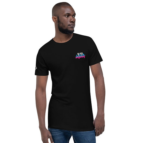 Vibes Long tail tee black