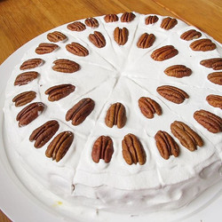 Another one masterpiece from my husband! _) Vegan cake with strawberry and pecans! _) .