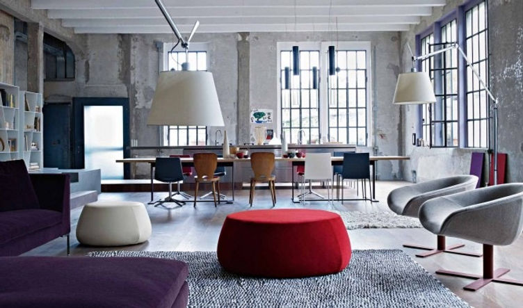 Industrial style is typically an eclecti