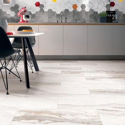 Marble Design - Jazz White