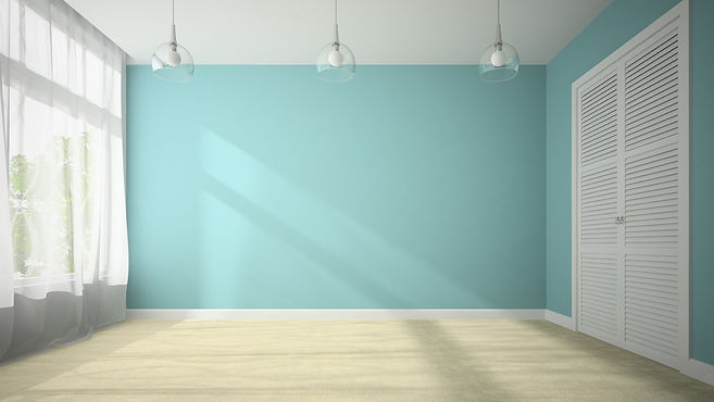 empty-room-with-blue-wall-3d-rendering-P