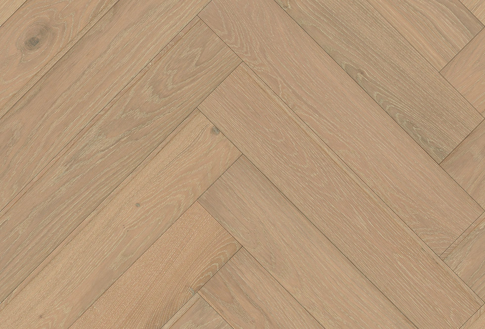 Natural Limed Herringbone