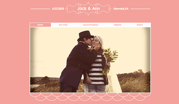 Events website templates – Wedding Event