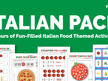 FREE Printable Italian Food Activity Pack for Preschoolers