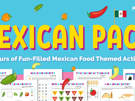 FREE Mexican Food Printable Activity Pack for Preschoolers