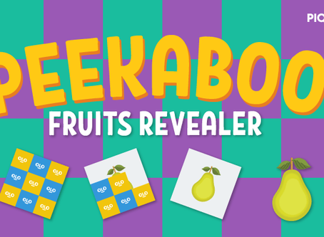 """FREE """"Click To Reveal"""" Fruits Activity Pack for Pre-K"""