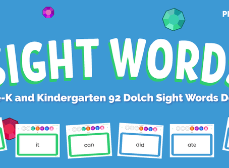 FREE Dolch Sight Words Interactive Card Set With Fun Tracker