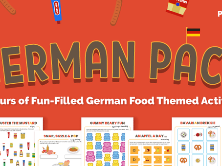 FREE German Food Printable Activity Pack for Preschoolers