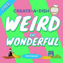 10 printables to create delicious dishes from weird food combinations