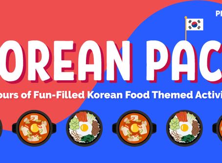 FREE Korean Food Printable Activity Pack for Preschoolers