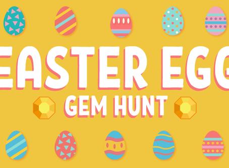 FREE Easter Egg Gem Hunt Game for Preschoolers