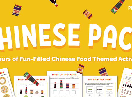 FREE Chinese Food Printable Activity Pack for Preschoolers
